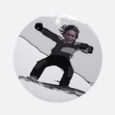 SNOWBOARDING - It's a lifesty Ornament (Round)