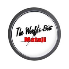 """The World's Best Mataji"" Wall Clock"