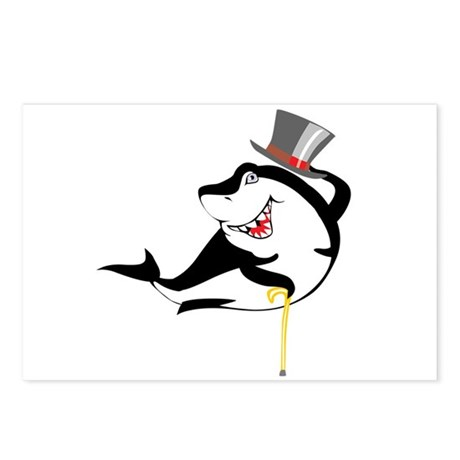 Top-Hat Shark Postcards (Package of 8)