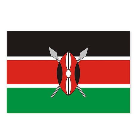 Kenyan Flag Postcards (Package of 8)
