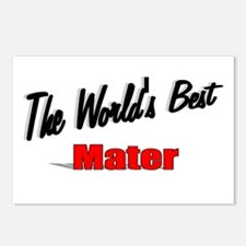 """""""The World's Best Mater"""" Postcards (Package of 8)"""