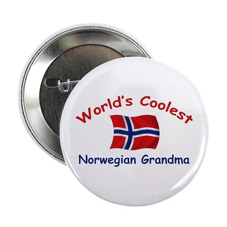"Coolest Norwegian Grandma 2.25"" Button"