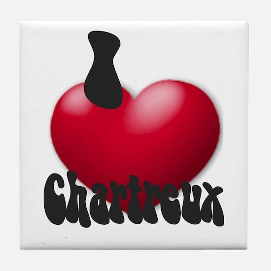 """""""I Love Chrtx"""" Tile Coaster"""