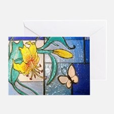 Lily and Butterfly Greeting Card