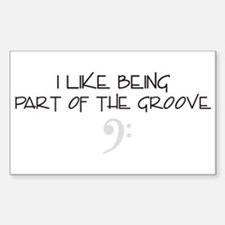 The Groove Rectangle Decal