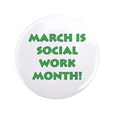 Social work month button Single
