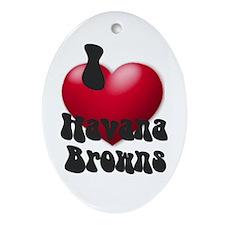 """I Love H-Browns"" Keepsake (Oval)"