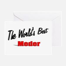"""The World's Best Meder"" Greeting Card"