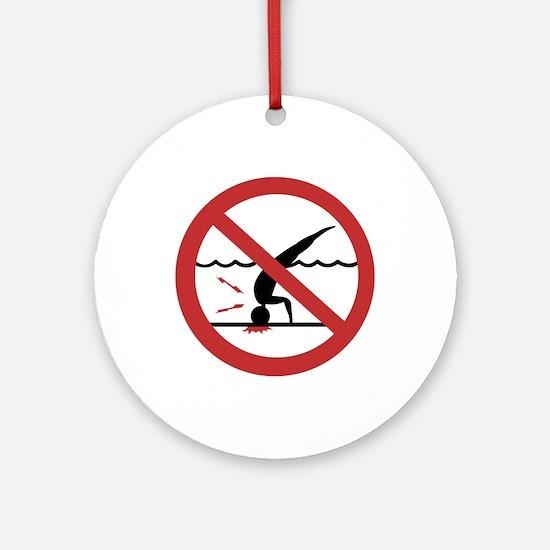 No Diving, International Ornament (Round)