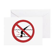 No Diving, International Greeting Cards (Pk of 10)