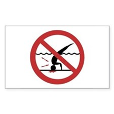 No Diving, International Rectangle Decal