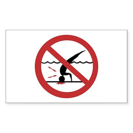 No Diving, International Rectangle Sticker