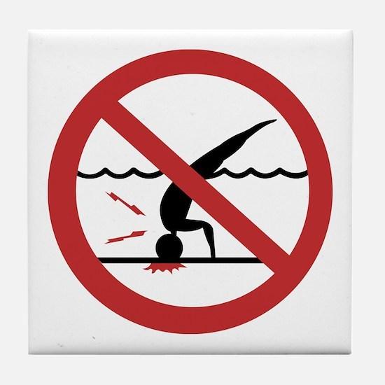 No Diving, International Tile Coaster