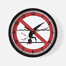 No Diving, International Wall Clock