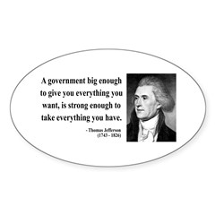 Thomas Jefferson 1 Oval Decal