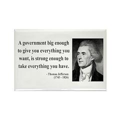 Thomas Jefferson 1 Rectangle Magnet (100 pack)