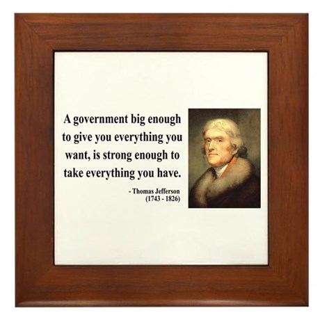Thomas Jefferson 1 Framed Tile