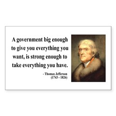 Thomas Jefferson 1 Rectangle Decal