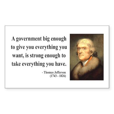 Thomas Jefferson 1 Rectangle Sticker