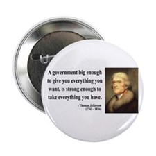 "Thomas Jefferson 1 2.25"" Button"