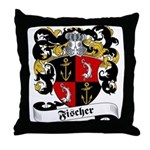 Fischer Family Crest Throw Pillow