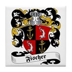 Fischer Family Crest Tile Coaster