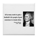 Thomas Jefferson 4 Tile Coaster