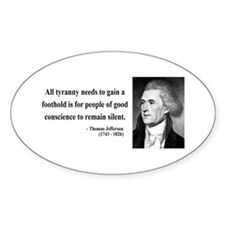 Thomas Jefferson 4 Oval Decal