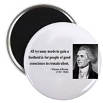 "Thomas Jefferson 4 2.25"" Magnet (10 pack)"