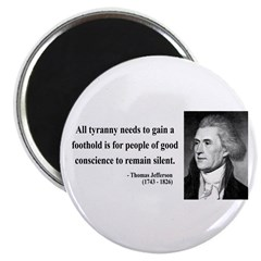 "Thomas Jefferson 4 2.25"" Magnet (100 pack)"