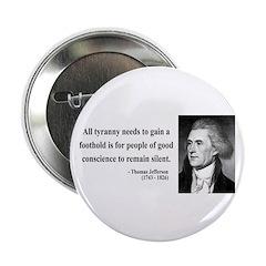"Thomas Jefferson 4 2.25"" Button (10 pack)"