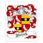 Fleisch Family Crest Small Poster