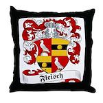 Fleisch Family Crest Throw Pillow