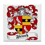 Fleisch Family Crest Tile Coaster