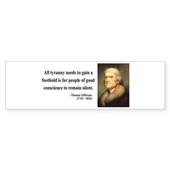 Thomas Jefferson 4 Bumper Bumper Sticker