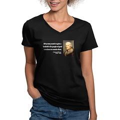 Thomas Jefferson 4 Women's V-Neck Dark T-Shirt