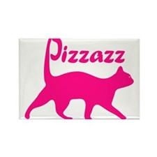 Pizzazz Cat Rectangle Magnet