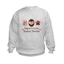 Peace Love Boston Terrier Sweatshirt
