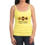 Peace Love Boston Terrier Jr. Spaghetti Tank