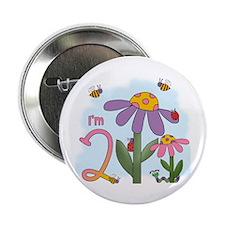 """Silly Garden 2nd Birthday 2.25"""" Button"""