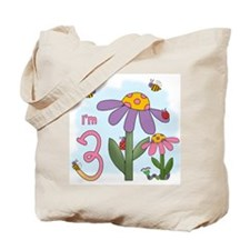 Silly Garden 3rd Birthday Tote Bag
