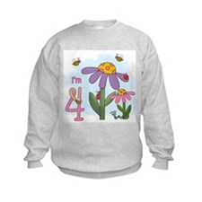 Silly Garden 4th Birthday Sweatshirt