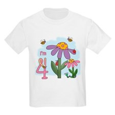 Silly Garden 4th Birthday T-Shirt