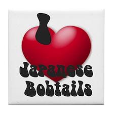 'I Love JapBobs' Tile Coaster