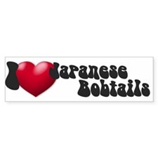 'I Love JapBobs' Bumper Bumper Sticker
