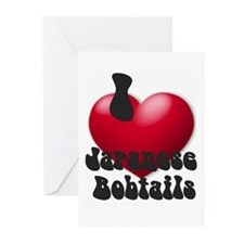 'I Love JapBobs' Greeting Cards (Pk of 10)