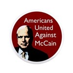 Big Americans United Against McCain Button
