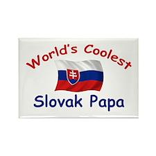 Coolest Slovak Papa Rectangle Magnet