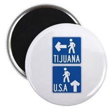 Pedestrian Crossing Tijuana-USA, US Magnet