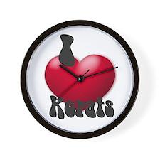 """""""I Love Korats!"""" Wall Clock"""